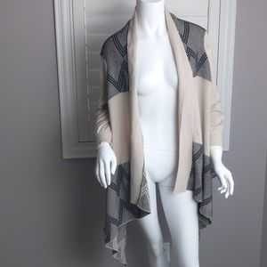 Anama knit open front waterfall front cardigan